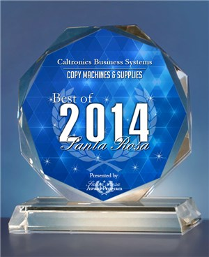 Caltronics Business Systems Santa Rosa Award